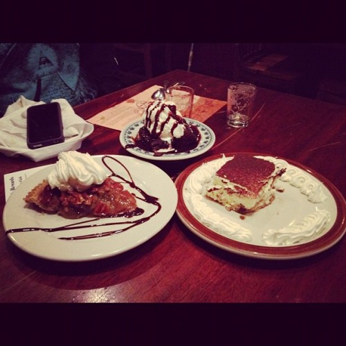 #tiramisu #warm #pecan #pie #haagendazs  (Taken with Instagram at J.J. Bitting Brewing Company)