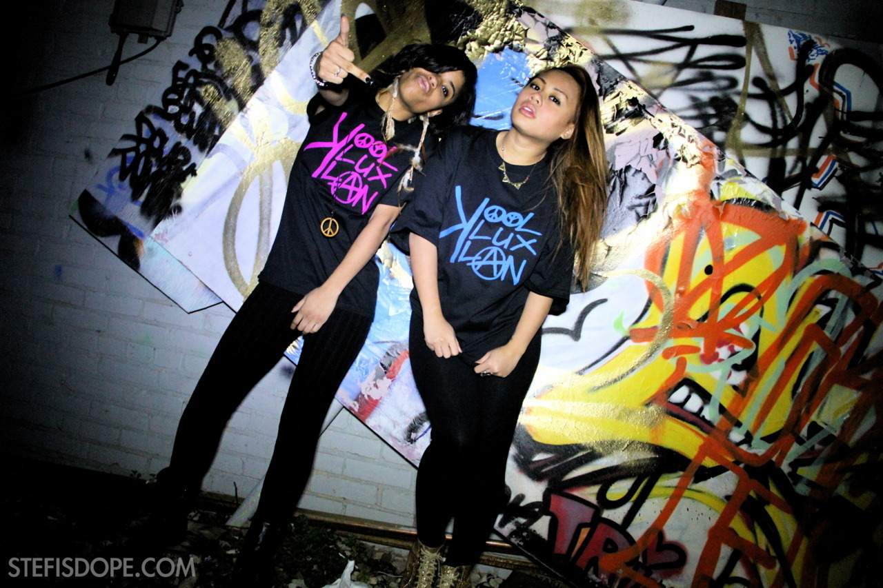 stefisdope:  @_LeenaNicole & @TheZoeyKash rocking the new @KoolKluxKlan tees.