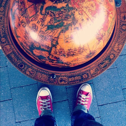 The World is at Your Feet. Just take a step. #chucks #inspiration #vintage  (Taken with instagram)