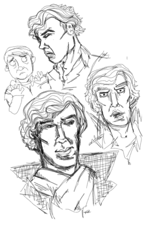 sablonneux:  Honestly Sherlock is all I ever draw anymore ever.