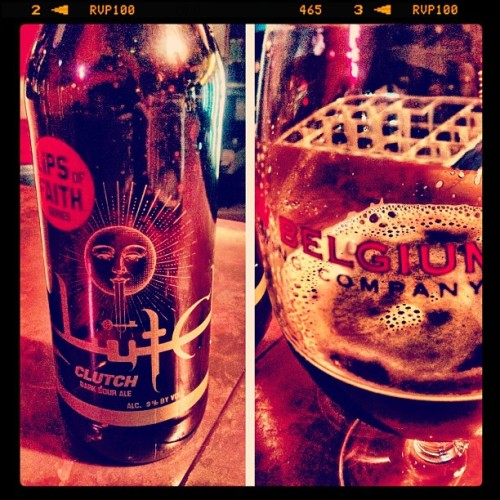 justindunaway:  Hey @newbelgium I bring my own beer to the bar! #clutch #beer #newbelgium (Taken with instagram)