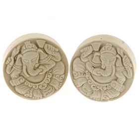 —WANT ((Ivoryite Ganesha Plugs))