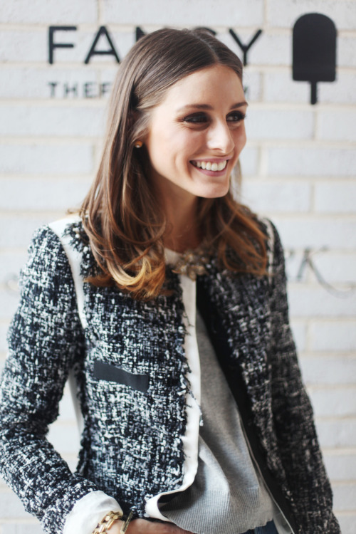 Olivia Palermo, at the Nonoo presentation on the Highline.