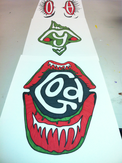 godlovessean:  OH! And partially done with my ATCQ piece!