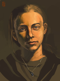 Blog: self portrait, digital painting http://samgauss.blogspot.com/