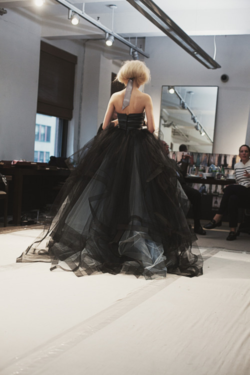 Daphne Groeneveld at Oscar de la Renta Fall 2012 fitting