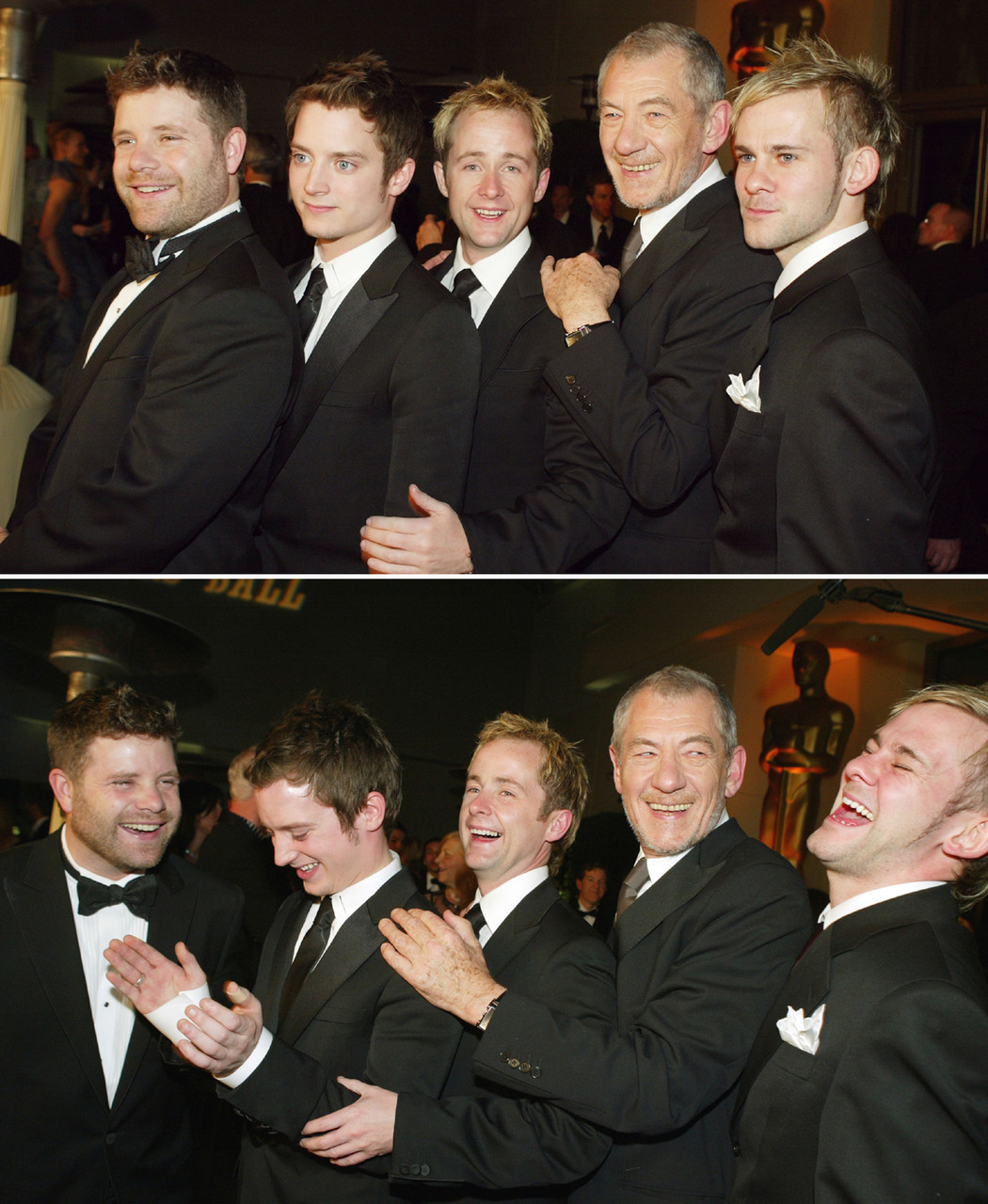 Sean Astin, Elijah Wood, Billy Boyd, Ian McKellen & Dominic Monaghan - Oscars, February 29th 2004 THIS OSCARS WAS LIKE A BEAUTIFUL DREAM I NEVER WANTED TO END.  GIVE PJACKS ALL THE AWARDS *SOB*