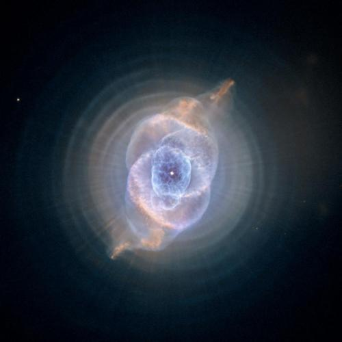 The Cat's Eye Nebula: Dying Star Creates Fantasy-like Sculpture of Gas and Dust