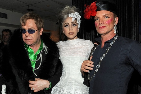 Elton John, Lady Gaga and Sting