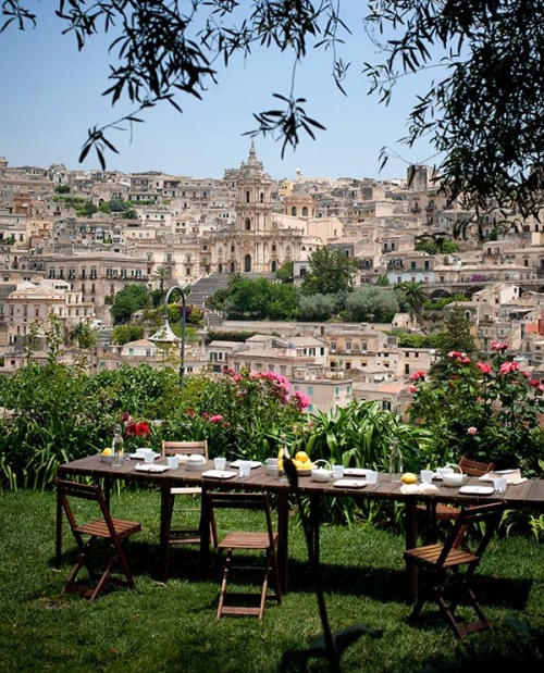 a view on Modica, Sicily