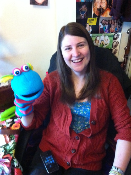 milandkate:  Puppeteer  Got my sister this lovely fella (the puppet) for christmas! Hope she uses it wisely!  She just told me his name is Pedro, and she's using Pedro for her spanish class. AMAZING! they love him!