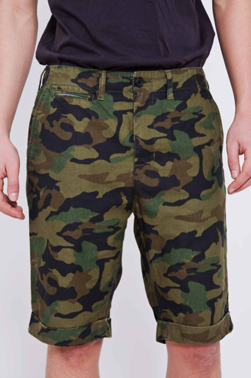 Beams + Cuffed Camo Shorts
