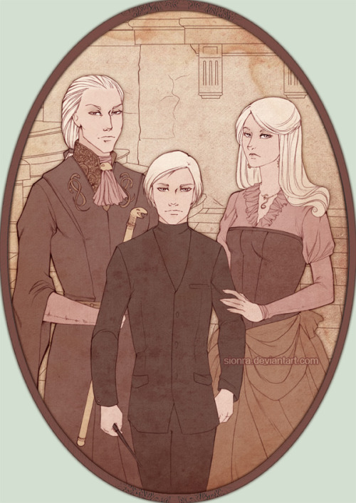 rebel-mel:  The Malfoy Family by *sionra