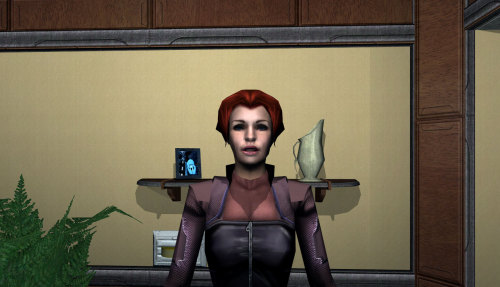 Deus Ex: Invisible War had no facial expression system for its characters, and they still all manage to look like morons. Submitted by Joannes.