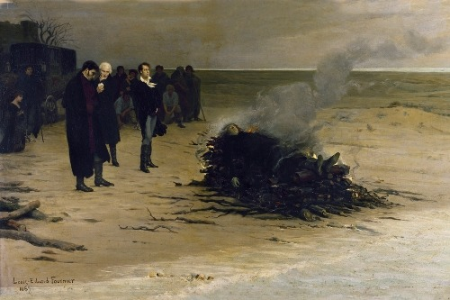 glukauf:  The Funeral of Shelley by Louis Édouard Fournier, 1889.