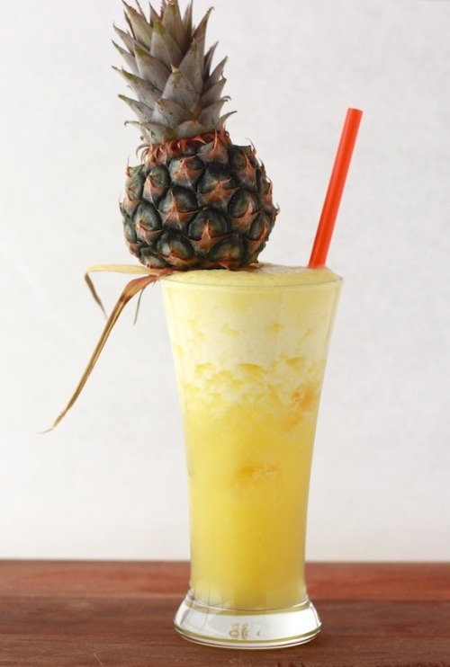 techsgtjenn:  vittoriagroup:  American Welcome Drink - Pineapple Ginger with RumSpiked Pineapple Ginger Drink recipe by Season with SpiceMakes 2 drinksIngredients: 2 cups fresh pineapple – core removed and chopped 2 tsp fresh ginger  2 tsp sugar* 1/2 cup water Ice cubes Splash of milk (optional) 2 shots of rum Process:1. Add pineapple, ginger, sugar, water, and five ice cubes (and milk, if adding) into a blender, and blend until smooth and foamy. 2. Add five ice cubes into both glasses, along with a shot of rum. 3. Pour mixture into glasses and serve immediately while still foamy. If you can find two dwarf pineapples, top each glass with one.Notes:* I used a Bali pineapple (Malaysian pineapple) which is very sweet, so you may need to adjust the sugar amount depending on what type of pineapple you use.- If you're out of rum, try it with vodka. Source: Season With Spice  I just need this for reasons.