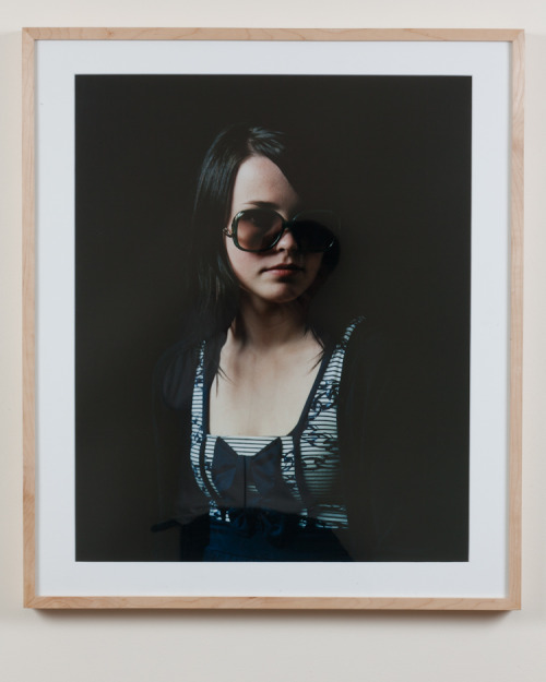 Framed print titled Marie from First Frost series, Oslo, Norway, 2009. Maple frame 72x60,5cm, picture : 59,5x49,5cm. C.print mounted on aluminium. 1500€.