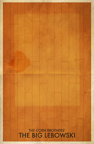 The Big Lebowski Minimal Poster by Tim Costello