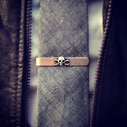 theblackworkshop:  Skull Tie Bar by Ralph Lauren Rugby