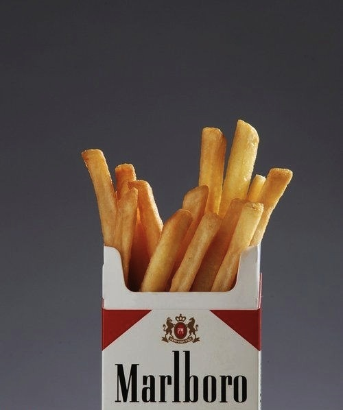 """Untitled"" Marlboro and fries 2008 by Skye Nicolas"