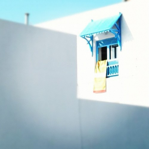 Couleurs #blue #orange #sky  (Taken with instagram)