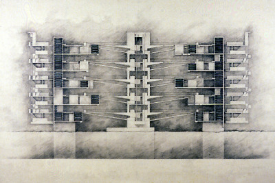 drawingarchitecture:  Saint Sebastian Cemetery, located of the shore of Manhattan on the Hudson. Johannes M.P. Knoops