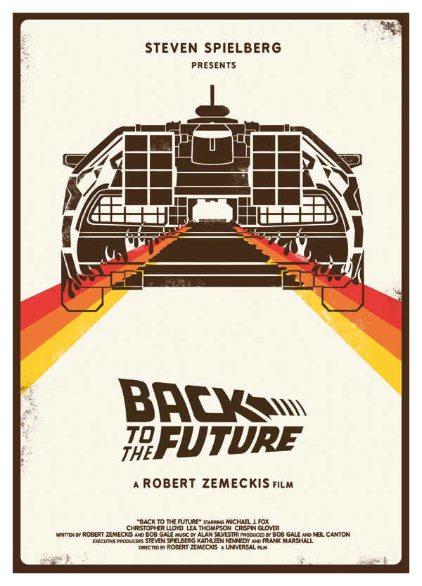 Back to the Future alternative movie poster designed by Heartstrand