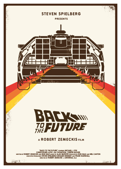 beautyliesinmovieposters:  Back to the Future alternative movie poster designed by Heartstrand