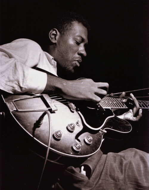 Grant Green during the recording of Lou Donaldson's A Man With A Horn session, Englewood Cliffs NJ, June 7 1963