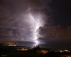 Thunderstorm in Martinique