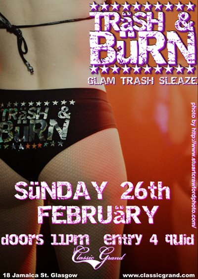 My bum on the Trash & Burn poster! (Shameless self-promotion)