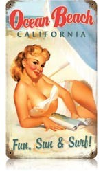 Ocean Beach pin up