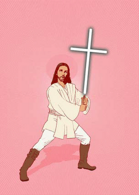 Jedi Jesus (who is WERKING it btw, giving total obi wan realness)