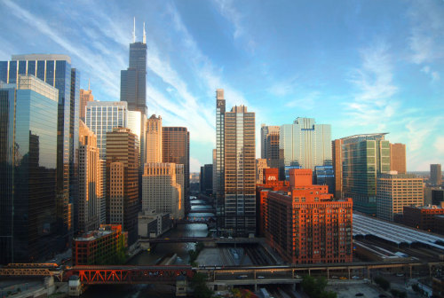 atkinson-digital:  Chicago Lowering Sun