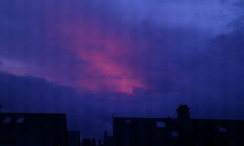 Red sky at night, perverts delight. Red sky in the morning, whores warning.
