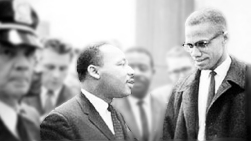 Martin Luther King Jr. and Malcolm X- The Meeting