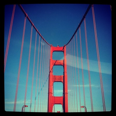 Crossing Golden Gate (Taken with instagram)