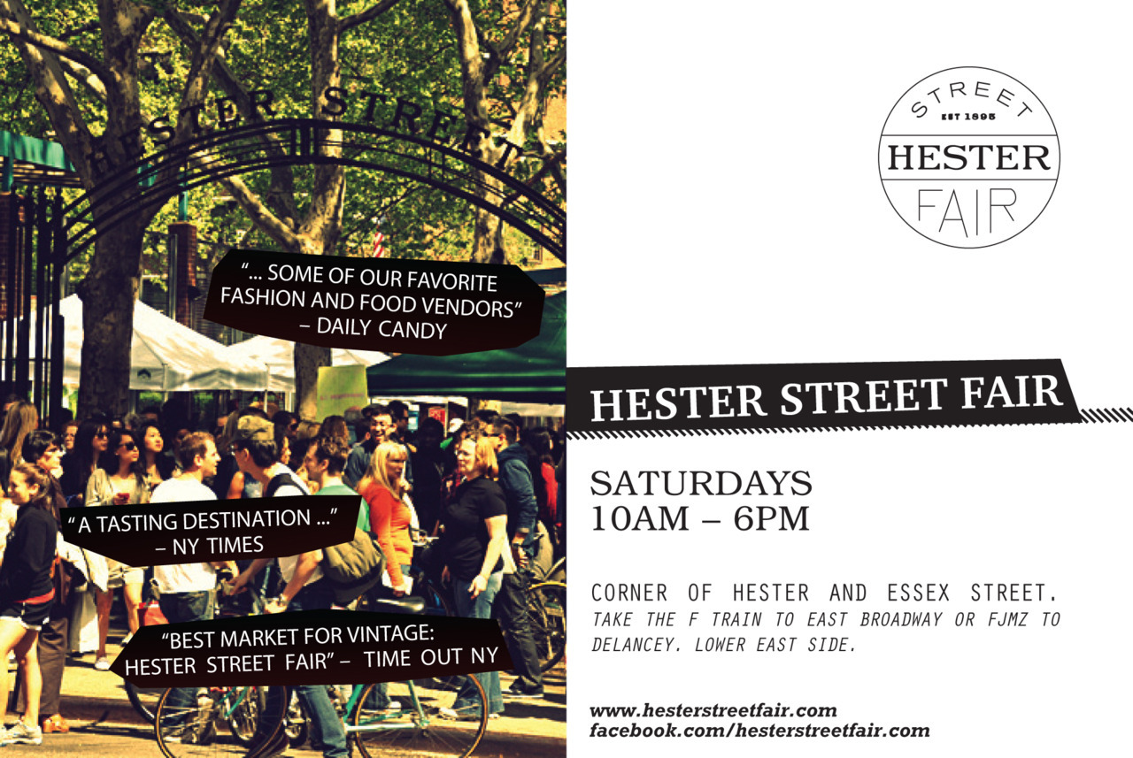 MUMBOT is super excited to have a booth at Hester Street Fair again! This year we have more dates planned which are the following:  May 12th May 19th June 2nd June 9th - KID'S DAY MARKET!  It's possible we will add on more dates later as well. We had so much fun last year being outside, in one of the best cities surrounded by good company, excellent food and fun vendors. The fine folks who put this fair together are super friendly and you can tell they really care about what they do. Can't wait to participate in the the fair again this year!Look out for future updates because we will have some fun new surprises in store for the fair and their might be some sneak peeks on this here mumbot blog!   UPDATE 3/31: We changed our October 27th date to the June 9th Kid's Day Market - in the future we might be including some October dates!