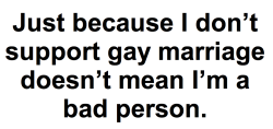 This is so fucking true. I support gay marriage 1082398%. But it doesn't mean that people who don't deserve to be shot.