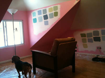 It's time to say farewell to the pink room. By tomorrow, the pink room will be an unfurnished nursery. It's gonna be a long year.
