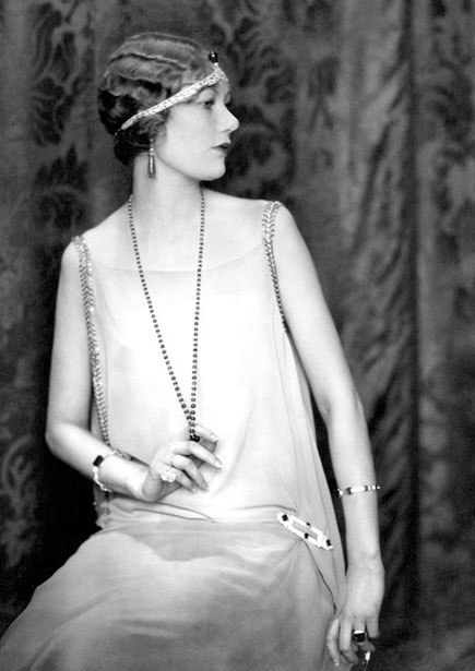 All the 1920s fashion we hope will be on Downton Abbey's Season Three—including guesses as to what Mary's wedding dress will be, here. Photograph from 1924 showing Cartier original jewels; Conde Nast Archive.