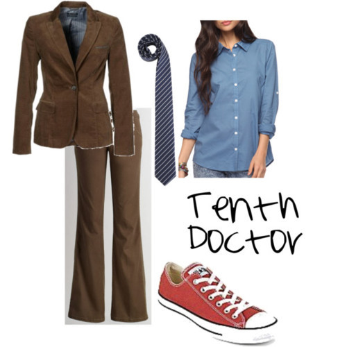 doctor costume him as the 10th doctor and genderswapped 10th doctor