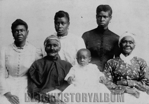 Portrait of six generations of of African American women (unidentified). R.W. Harrison, photographer, c1893 Find Black History Album on Twitter | Facebook | Flickr Subscribe via RSS | Email