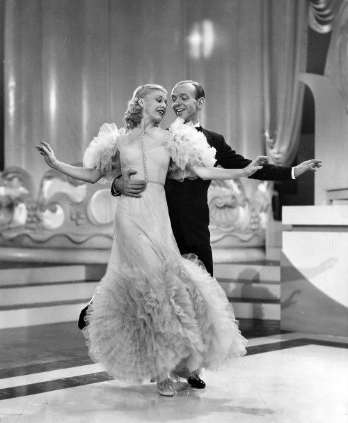 wehadfacesthen:  Fred Astaire and Ginger Rogers in Swing Time (George Stevens, 1936)