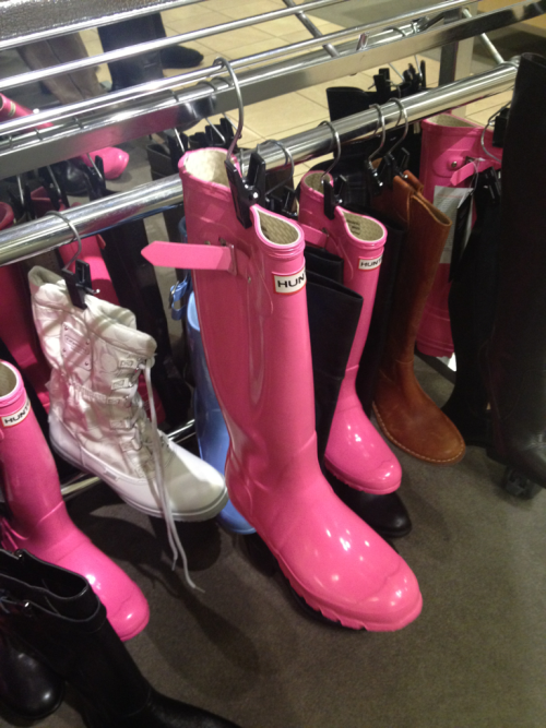 Truly pink hunters on sale at Nordstrom! You can imagine how tempted I am.