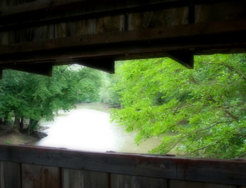 View from a covered bridge.