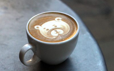 Coffee bear :] by RobsonBarista on Flickr.