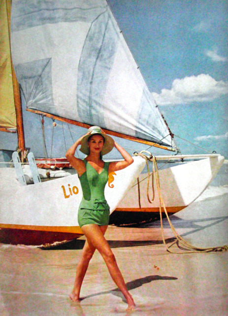 Happy Memorial Day!! theniftyfifties:  Swimwear for Mademoiselle magazine, 1959.