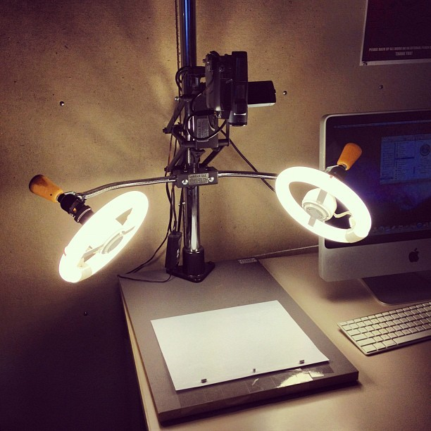 Animation setup in class! (Taken with instagram)