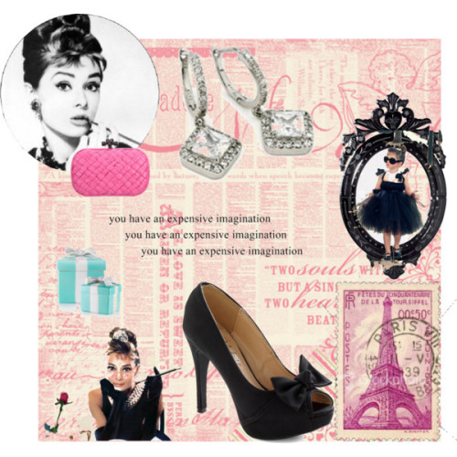 Breakfast at Tiffany's by sammie2013 featuring cubic zirconia earrings